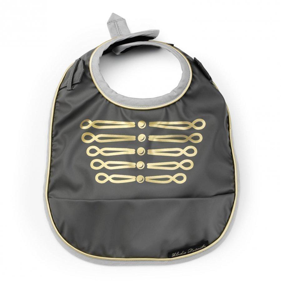 Elodie Details Baby Bib Golden Grey Ruokalappu