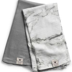 Elodie Details Bamboo Muslin Blanket 2 kpl Marble Grey