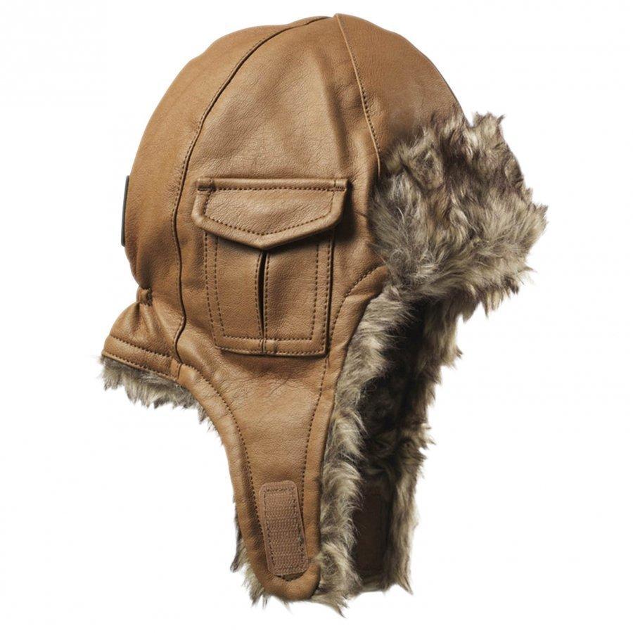 Elodie Details Cap Chestnut Leather Korvalapullinen Päähine