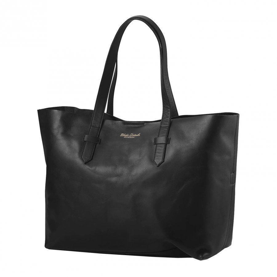 Elodie Details Changing Bag Black Leather Hoitolaukku