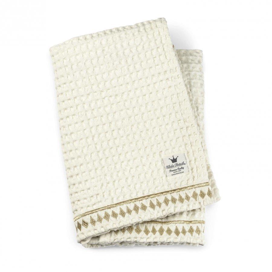 Elodie Details Cotton Waffle Blanket Vanilla White Huopa