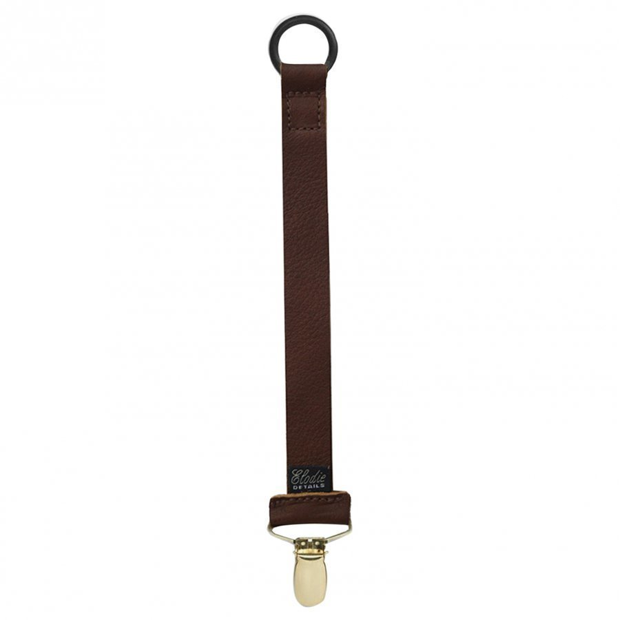 Elodie Details Pacifier Clip Leather Brown Tutti