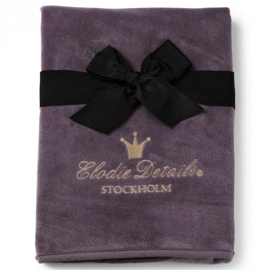 Elodie Details Pearl Velvet Blanket Plum Love Huopa