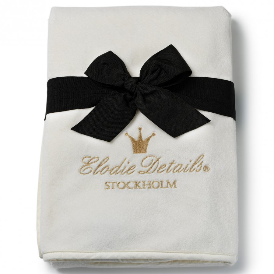 Elodie Details Pearl Velvet Blanket Vanilla White Huopa