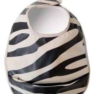 Elodie Details Ruokalappu Zebra Sunshine Black/White
