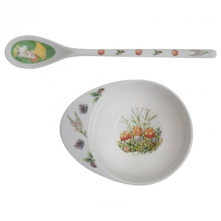 Elsa Beskow Bowl & Spoon Tomtebobarnen Ruokailusetti