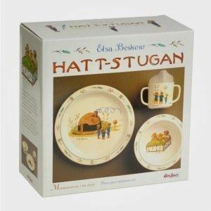 Elsa Beskow Gift Box Hattstugan Ruokailusetti