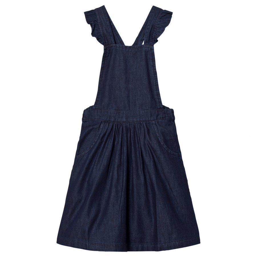 Emile Et Ida Chambray Dress Navy Farkkuhame