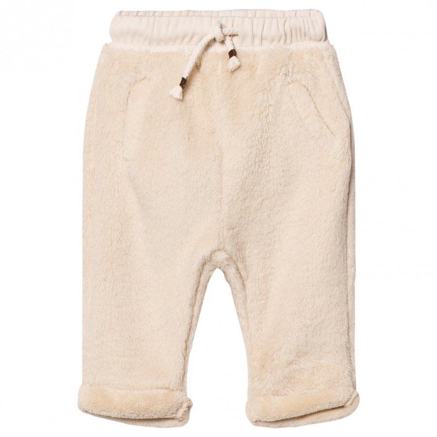 Emile Et Ida Ecru Fuzzy Pants Ecru Verryttelyhousut