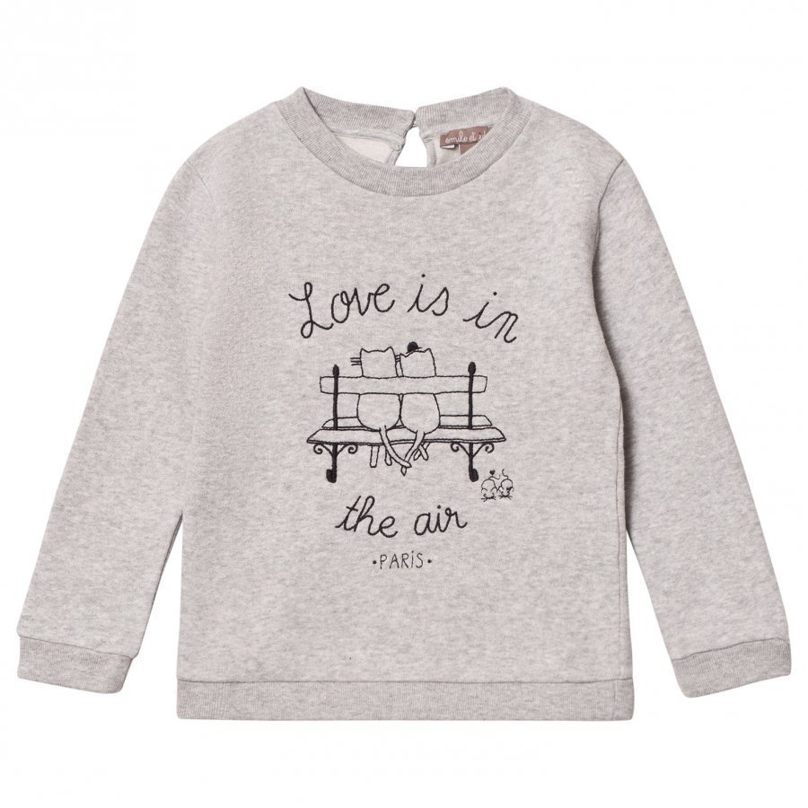 Emile Et Ida Gris Chine Love Is In The Air Sweater Oloasun Paita