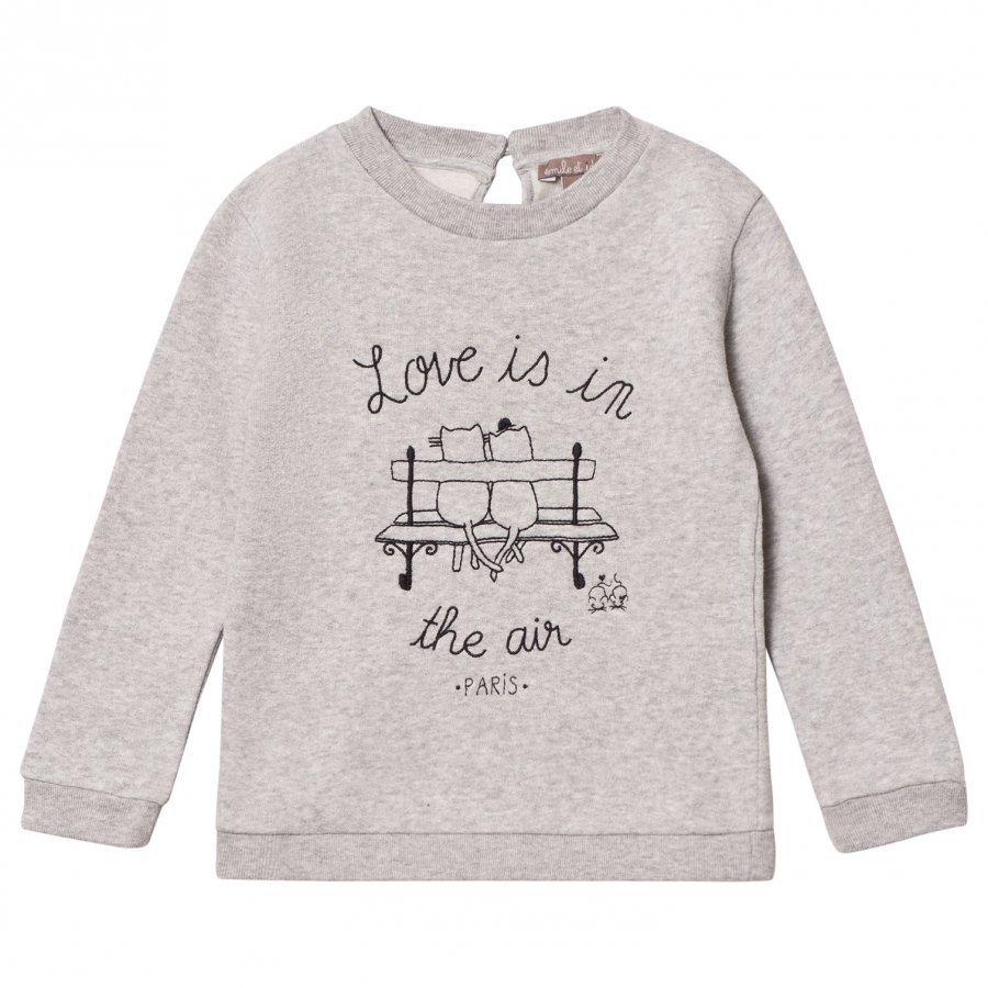 Emile Et Ida Gris Chine Love Is In The Air Sweater Oloasun Paita