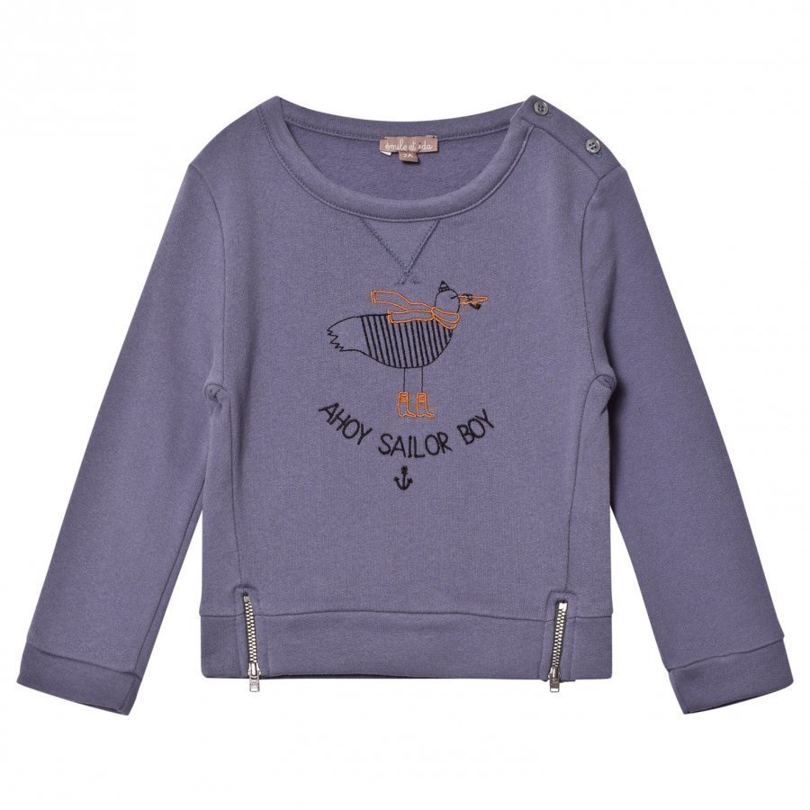 Emile Et Ida Sailor Boy Sweater Indigo Oloasun Paita