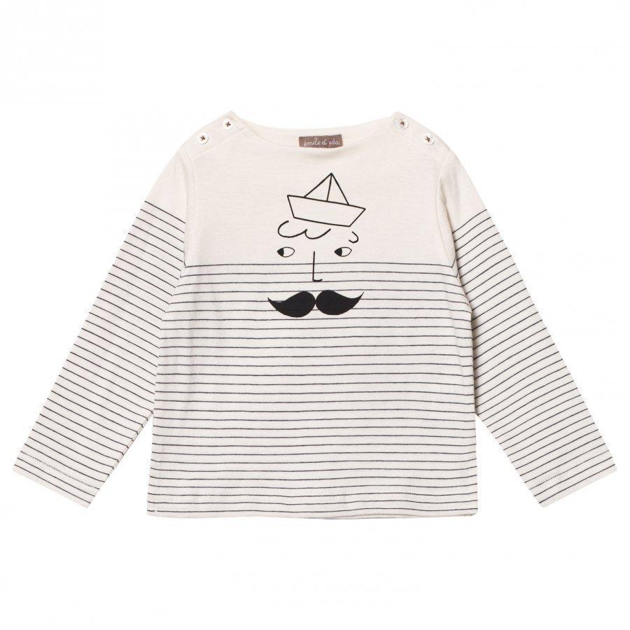 Emile Et Ida Sailor Stripes Tee Pitkähihainen T-Paita