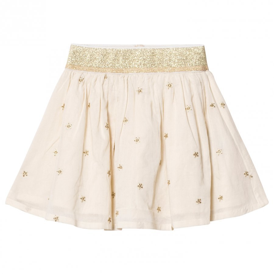 Emile Et Ida Skirt With Gold Dots Ecru Midihame