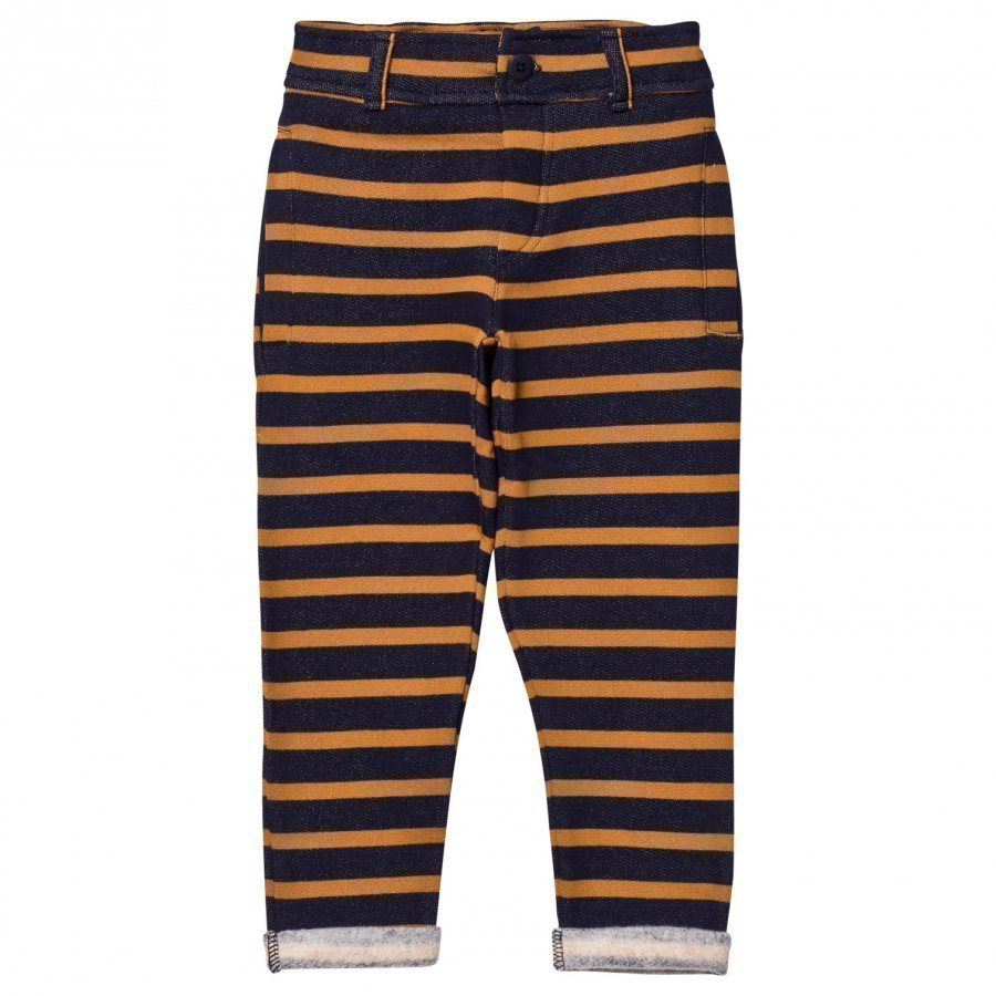 Emile Et Ida Striped Sweatpants Marstriped Sweatpants Marine/Ocreine/Ocremarine/Ocre Farkut