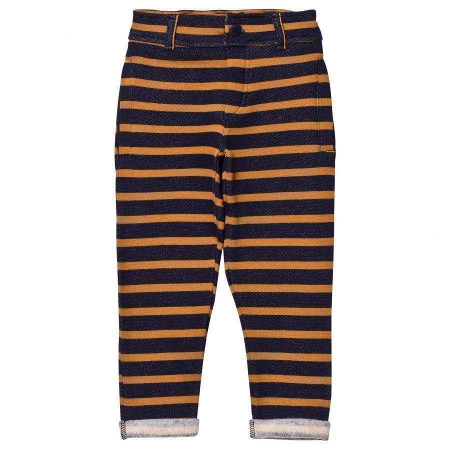 Emile Et Ida Striped Sweatpants Marstriped Sweatpants Marine/Ocreine/Ocremarine/Ocre Farkut