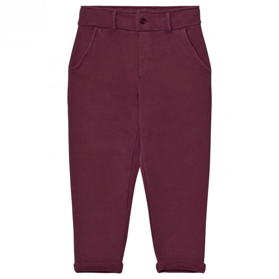Emile Et Ida Sweatpants Prune And Ocre Housut