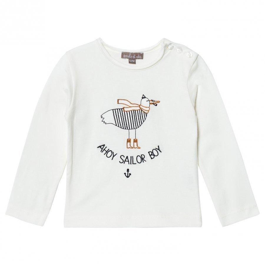 Emile Et Ida T-Shirt Sailor Boy Ecru Pitkähihainen T-Paita