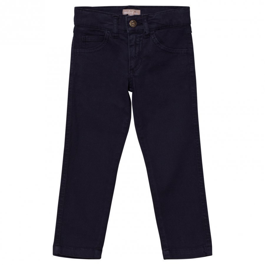 Emile Et Ida Trousers With Cat Pockets Marine Farkut