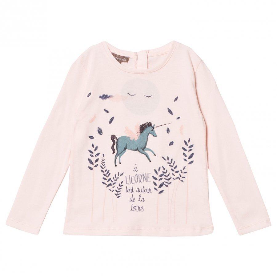 Emile Et Ida Unicorn Tee Rose Pitkähihainen T-Paita