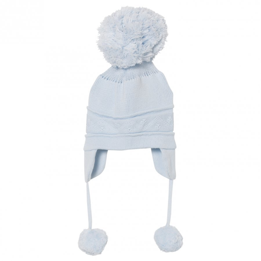 Emile Et Rose Griffin Blue Bobble Hat With Ear Flaps Pipo