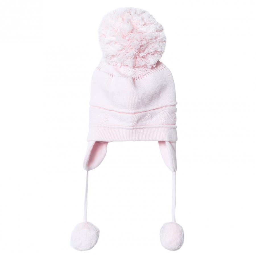 Emile Et Rose Griffin Pink Bobble Hat With Ear Flaps Pipo