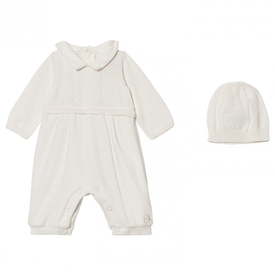 Emile Et Rose Langston Off White Velour One-Piece Body