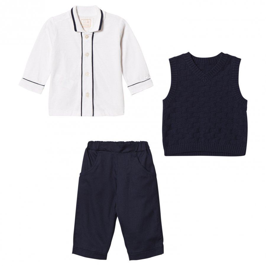 Emile Et Rose Layton Navy Three-Piece Outfit Asusetti