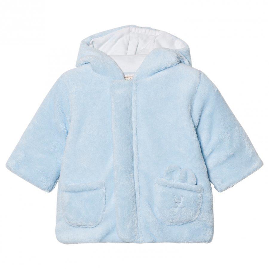 Emile Et Rose Lenny Fleece Coat Pale Blue Fleece Takki