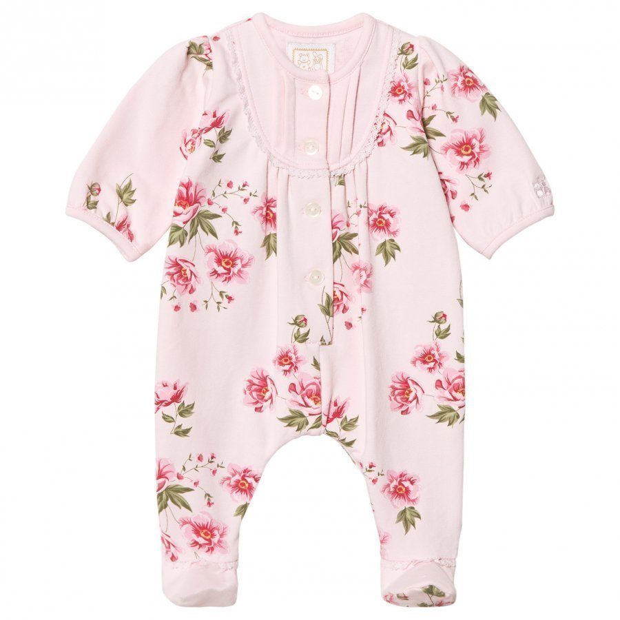 Emile Et Rose Lesley Pink Footed Baby Body With Floral Print Body