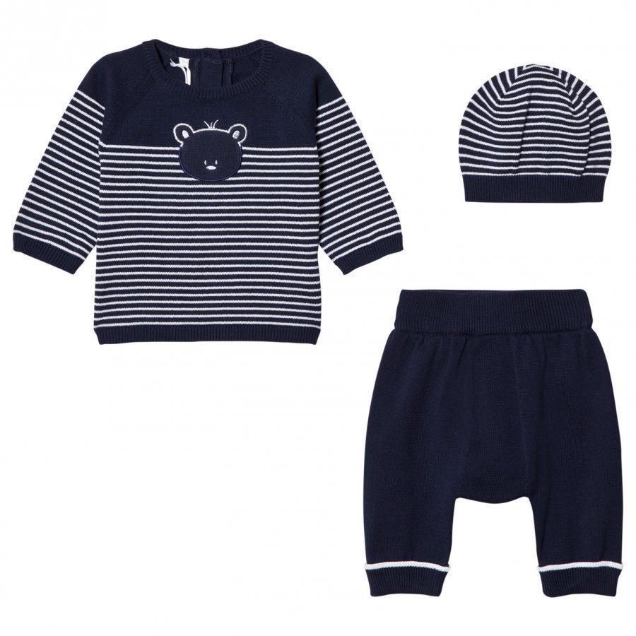 Emile Et Rose Lloyd Two-Piece Knit Set In Navy Blue Asusetti