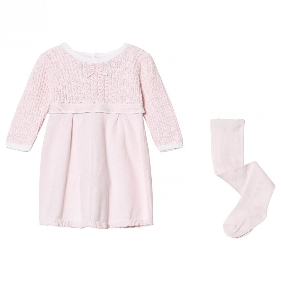 Emile Et Rose Loralie Knit Dress And Tights Set Pink Mekko