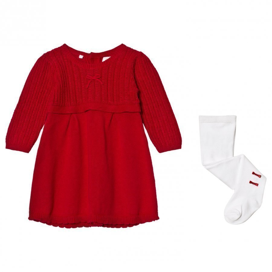 Emile Et Rose Loralie Knit Dress And Tights Set Red Mekko