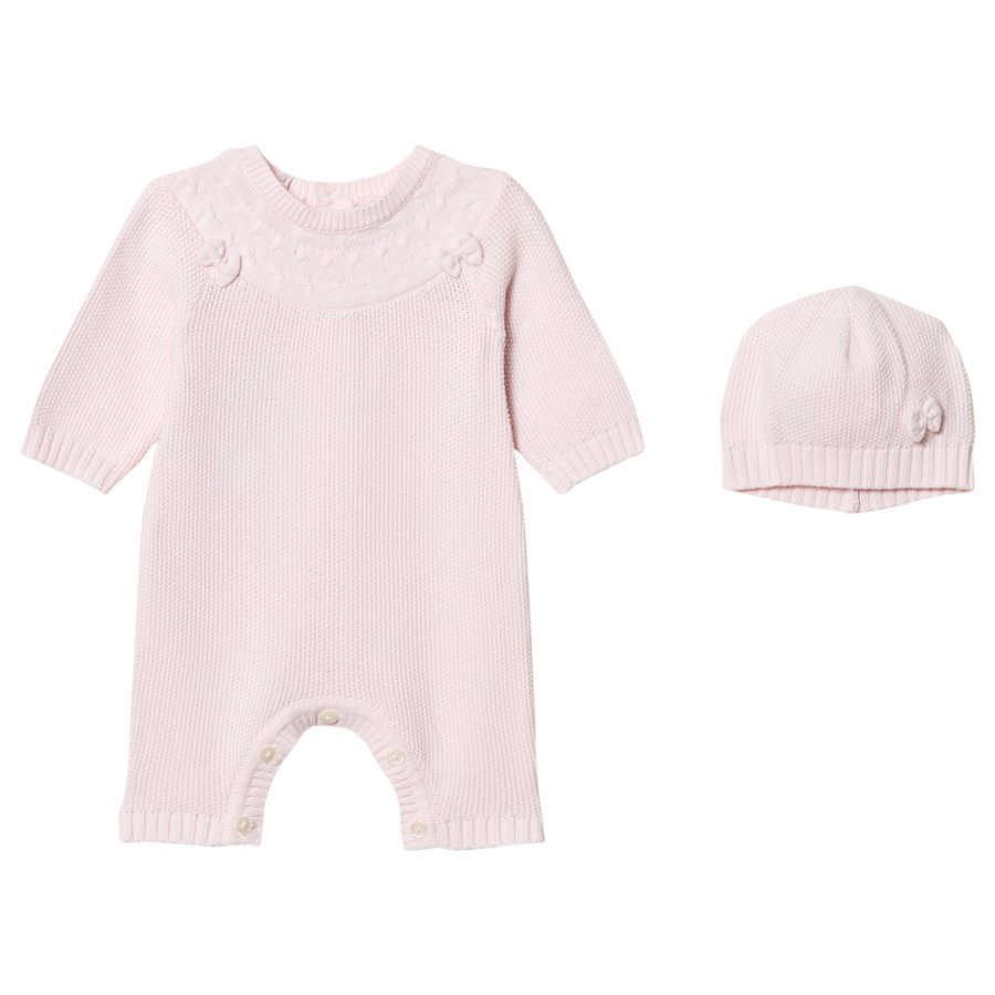 Emile Et Rose Luna Pale Pink Knitted One-Piece And Beanie Set Body