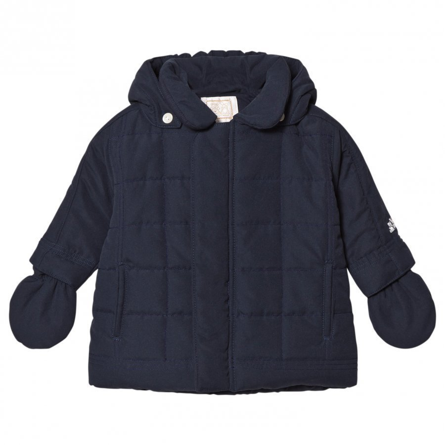 Emile Et Rose Navy Padded Coat Toppatakki