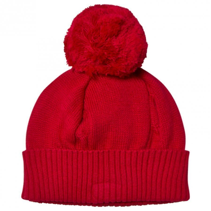 Emile Et Rose Red Bobble Hat Pipo