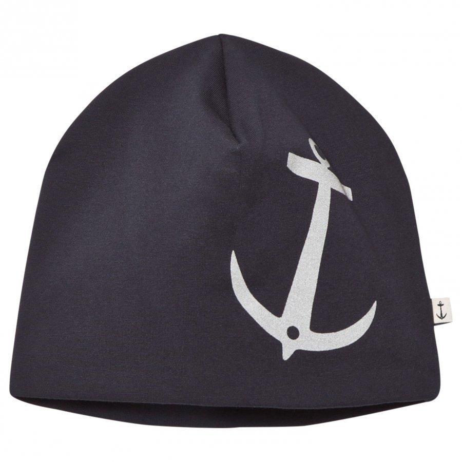 Emma Och Malena Anchor Beanie Navy Reflex Pipo