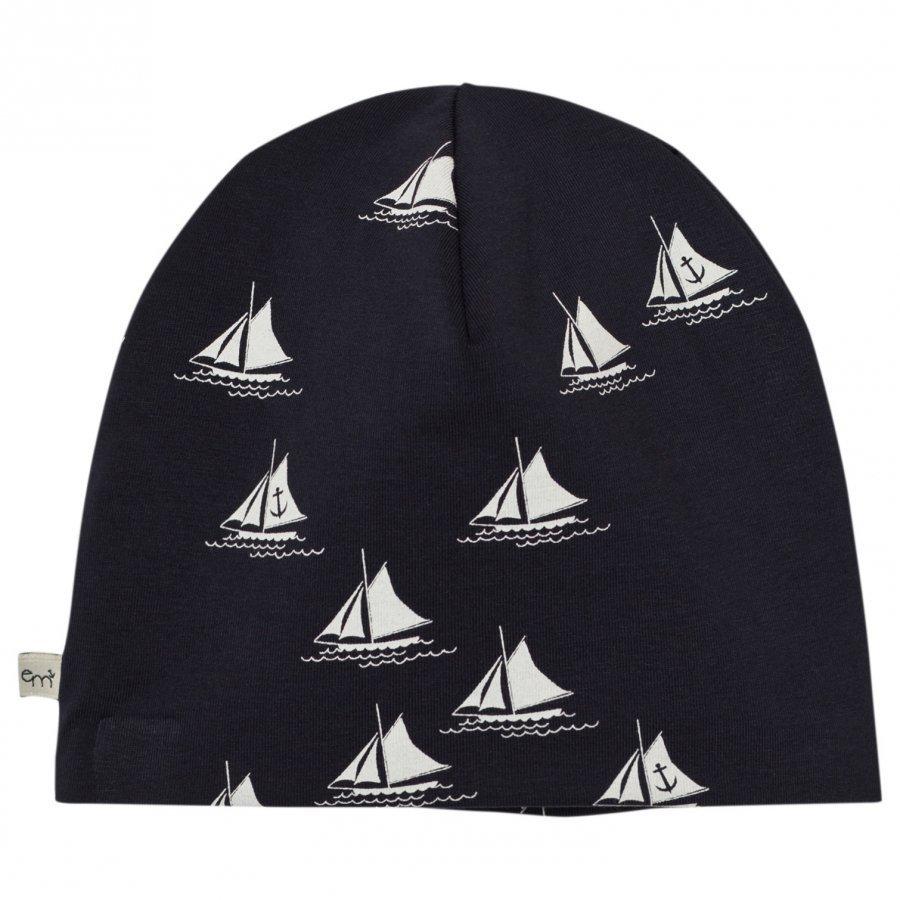 Emma Och Malena Em Beanie Ship Navy Pipo
