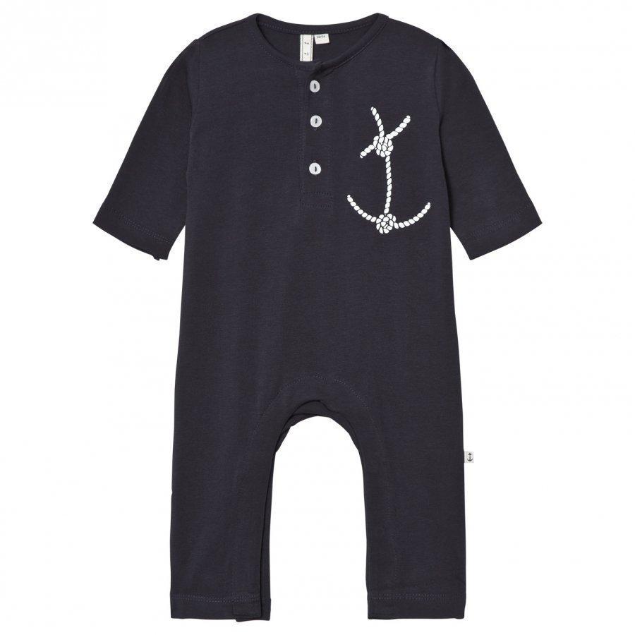 Emma Och Malena Em Pyjamas Rope Anchor Navy Yöpuku