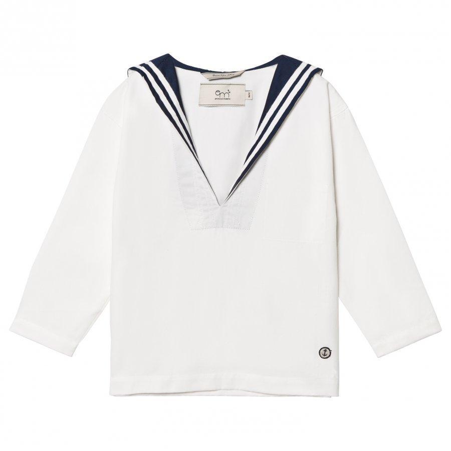 Emma Och Malena Håkan Mini Matros Shirt White/Navy Kauluspaita