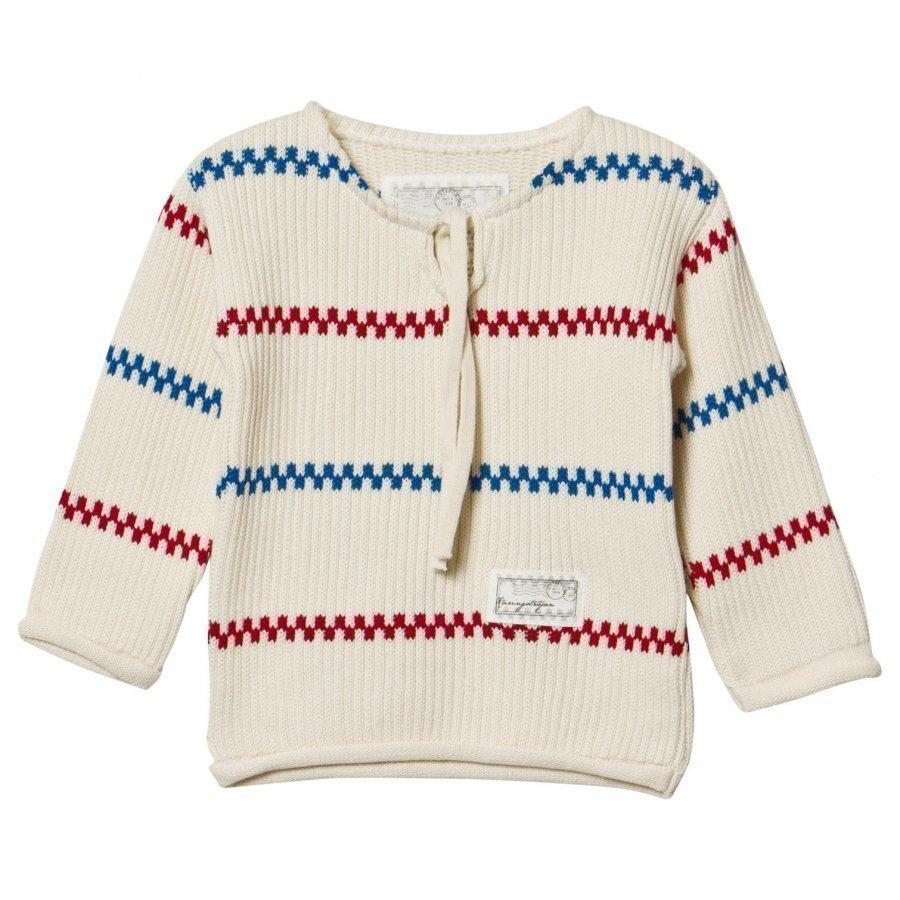 Emma Och Malena Knitted Käringö Sweater Offwhite Paita