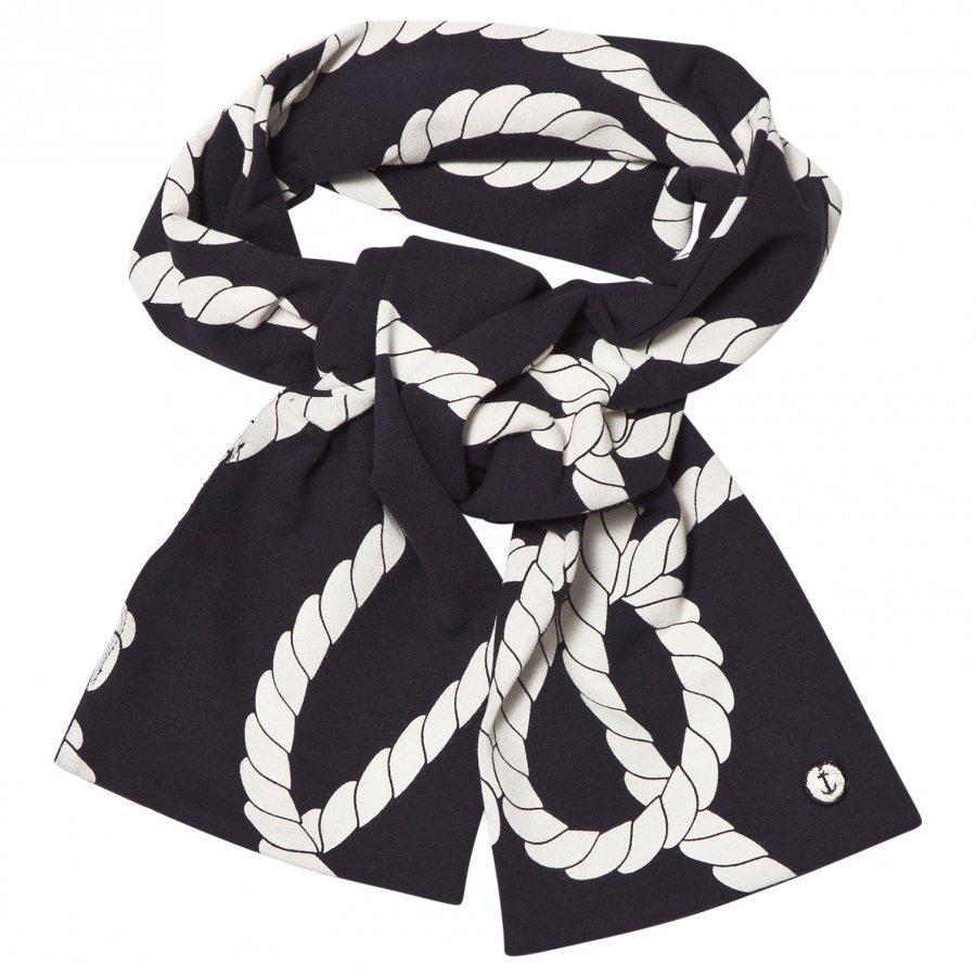 Emma Och Malena Long Scarf Rope Navy Koristeellinen Huivi