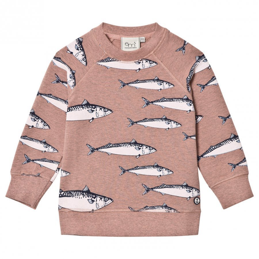 Emma Och Malena Makrill Sweater Kids Old Pink Oloasun Paita