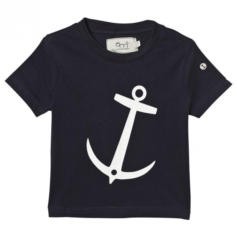 Emma Och Malena T-Shirt Anchor Navy T-Paita