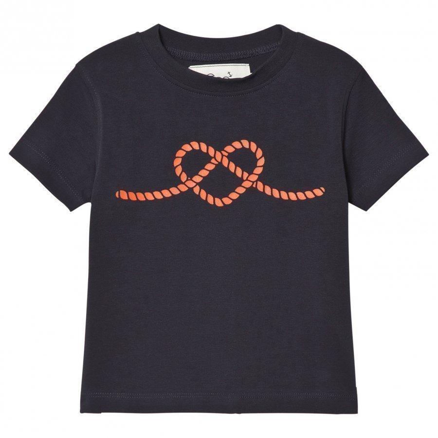 Emma Och Malena T-Shirt Rope Heart Navy T-Paita