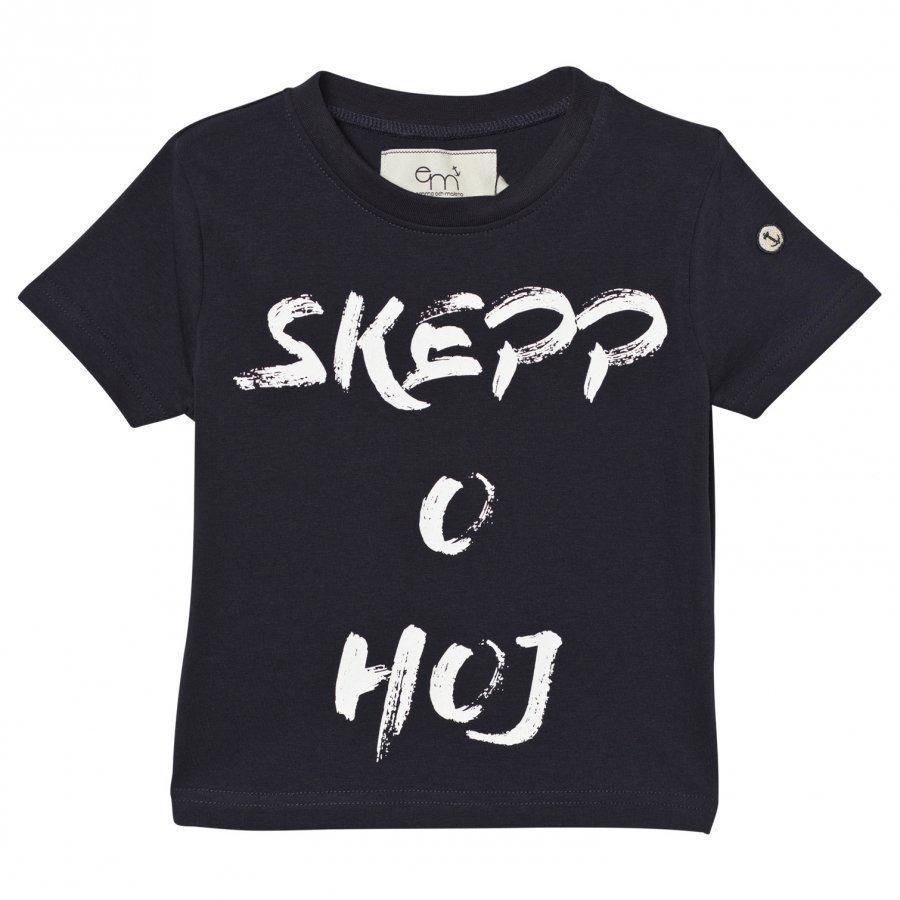 Emma Och Malena T-Shirt Skepp O Hoj Navy T-Paita