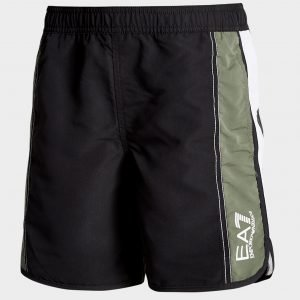 Emporio Armani Ea7 Colour Block Swim Shorts Musta