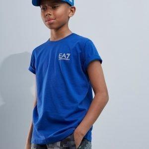 Emporio Armani Ea7 Core Logo T-Shirt Sininen