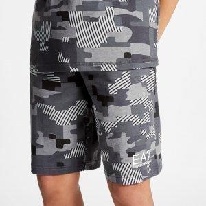 Emporio Armani Ea7 Digi Camo Shorts Harmaa
