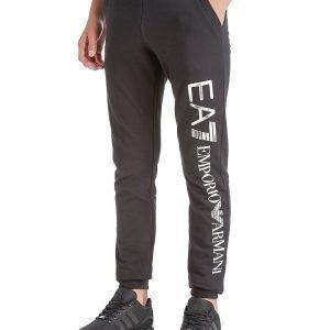 Emporio Armani Ea7 Foil Logo Cuff Pants Musta